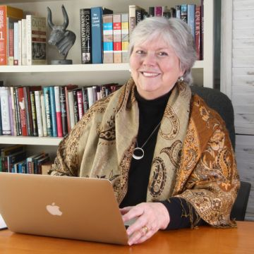 Photo of author Sherry Christie in her office